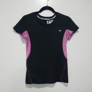 New Balance Black Workout Athletic Active Gym Top